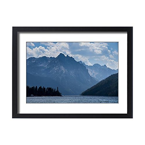 Framed 24x18 Print of Redfish Lake in a valley north of Sun Valley, Sawtooth National Forest (10684145) (Framed Redfish)