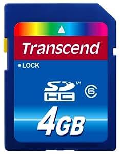 Transcend 4 GB Class 6 SDHC Flash Memory Card TS4GSDHC6E