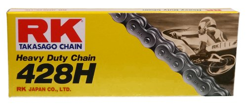 RK Racing Chain M428H-110 (428 Series) 110-Links Standard Non O-Ring Chain with Connecting - Non O-ring 428