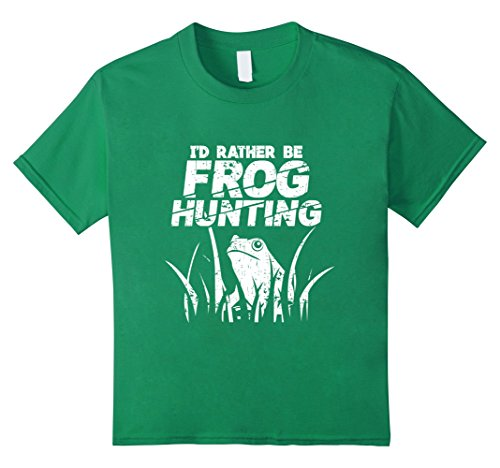 Price comparison product image Kids Frog Hunting T-Shirt 6 Kelly Green