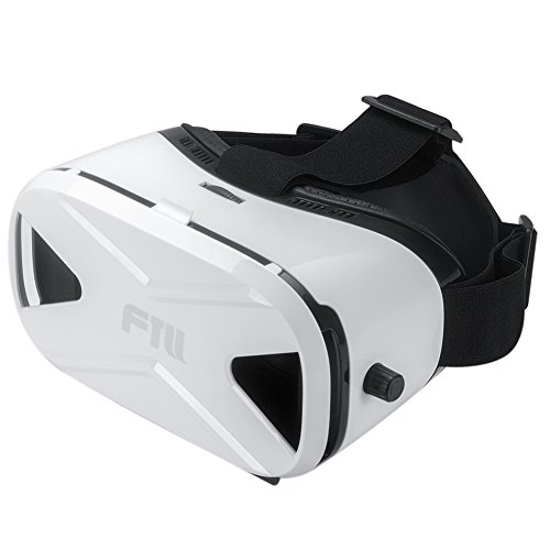 FTLL 3D VR Virtual Reality Headset Glasses VR Box Goggles for iphone 7/7 plus iPhone 5 5s 6/ 6s plus Samsung Galaxy S4/5/6/7/C5/7/A3/7/5/9 Edge Note 4/5/6/7 LG G5 for Android and IOS