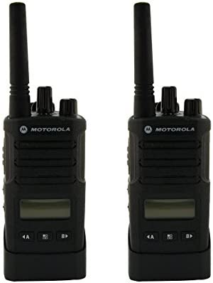 Motorola RMU2080D On-Site 8 Channel UHF Rugged Two-Way Business Radio with Display and NOAA Black Two Count