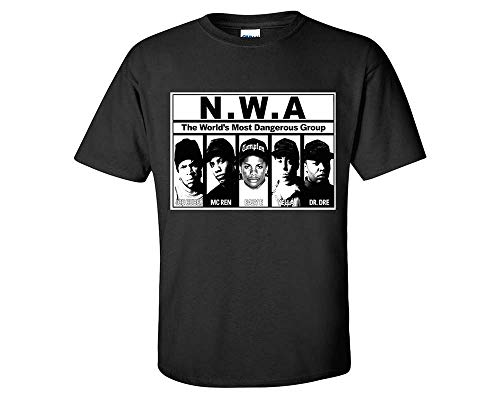 LIFESTYLE39 NWA The World's Most Dangerous Group T-Shirt, NWA Rap Hip-Hop Inspired Shirt