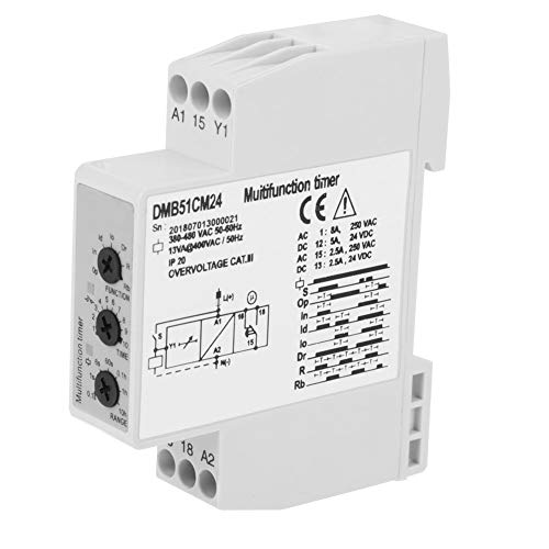 elay Delay OFF Switch with 7 Function Choices DC 24V & AC 24-240V ()