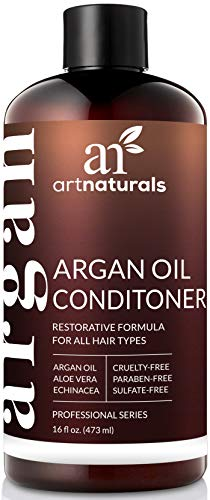 ArtNaturals Argan Oil Hair Conditioner  - (16 Fl Oz / 473ml) - Sulfate Free - Treatment for Damaged and Dry Hair - For All Hair Types - Safe for Color Treated Hair (Best Hair Conditioner For Curly Frizzy Hair)