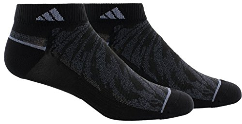 adidas Mens Superlite Prime Mesh Low Cut Socks (2-Pack), Grey Marl/Onix, Size 6-12
