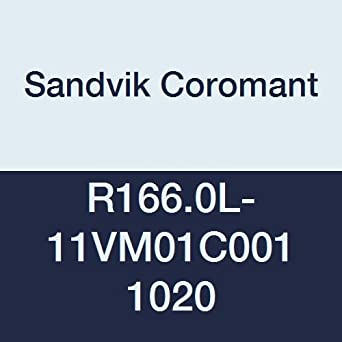 Sandvik Coromant R166.0L-16RX01F060 1020 PVD Coated Solid Carbide U-Lock Threading Insert Round Thread 6 Pack of 2