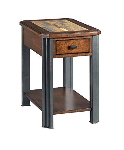 Amazon.com: End Table with Storage and Shelf - Wood End ...