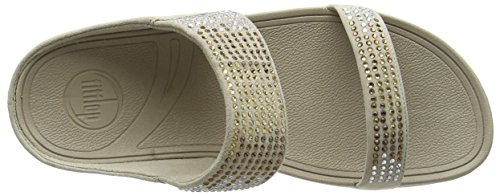 Fitflop Flare Slide - Sandalias Mujer Marrón - Brown (Pebble 094)