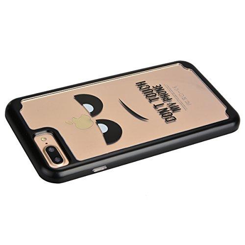 Custodia iPhone 7 Plus (5,5 pollice), HB-Int 3 in 1 Ultra Slim Custodia Shell Custodia Morbida Case Flessibile TPU Gel Bumper Stampato Design PC+ Silicone Ibrido Impatto Caso Ultra Sottile Leggera Cop