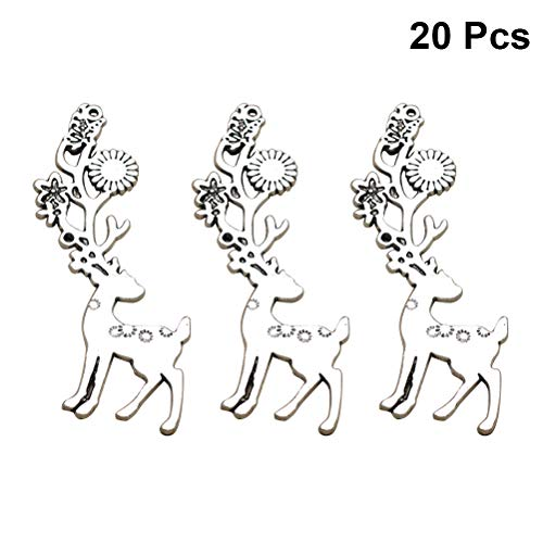 FENICAL Alloy Charms DIY Sika Deer Pendants Jewelry Making Fingings Earring Necklace Bracelet Accessories 20pcs -