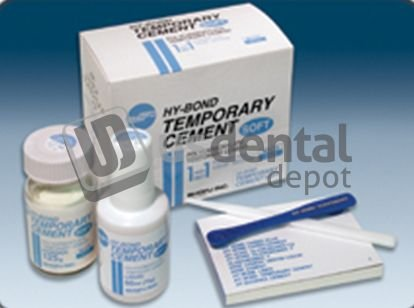 Shofu 1173 Hy-Bond Polycarboxylate Temporary Cement Kit, Contains 125 g Powder, 60 mL Liquid, Mixing Pad, Spatula, Instructions