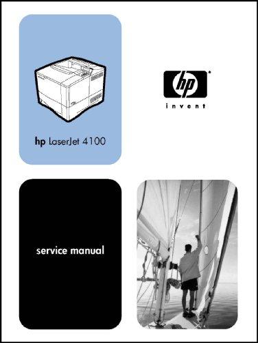 - HP LaserJet Printer 4100 336 page Service Manual Guide