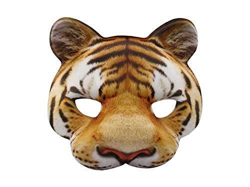 (Jacobsen Hat Company Tiger Half Mask Realistic Look Soft Foam Face Mask Halloween Costume)