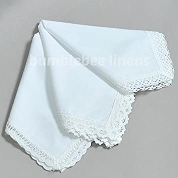 White wedding bridal ladies cotton lace handkerchiefs hankie hanky white wedding bridal ladies cotton lace handkerchiefs hankie hanky set of 3 by bumblebee linens junglespirit Image collections