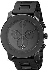 Movado Men's 3600048 Bold Black Stainless Steel Bracelet Watch