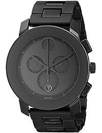 Mens 3600048 Bold Black Stainless Steel Bracelet Watch