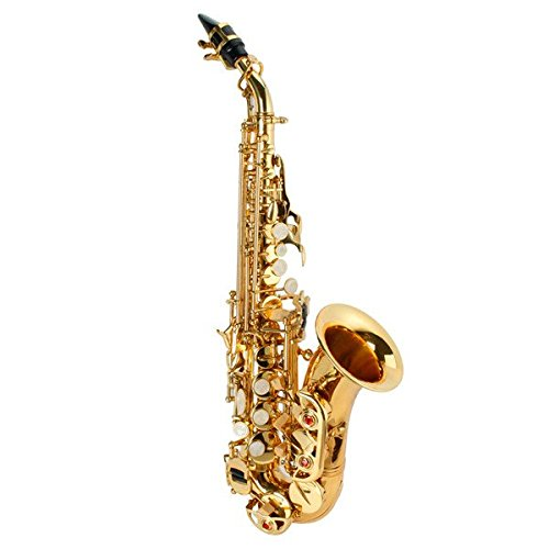 LADE WSS-795 bB Golden Brass Saxophone Hand-Caved Tube For Beginner by SOUND HOUSE 38 (Image #2)