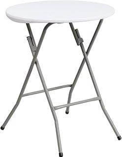 Flash Furniture 24u0027u0027 Round Granite White Plastic Folding Table