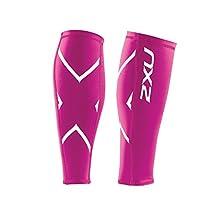 2XU Non-Stirrup Compression Calf Guard, Hot Pink, Large
