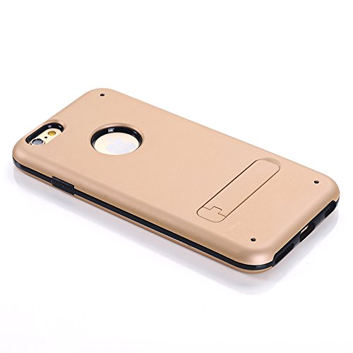 iPhone 6, iPhone 6 Case with Kickstand,iPhone 6 4.7 Case, MagicSky Armor Shell Double Layer Perfect Slim Fit Cover Protective Case for Apple iPhone 6 6g 4.7 inch, 1 Pack(Champagne Gold)