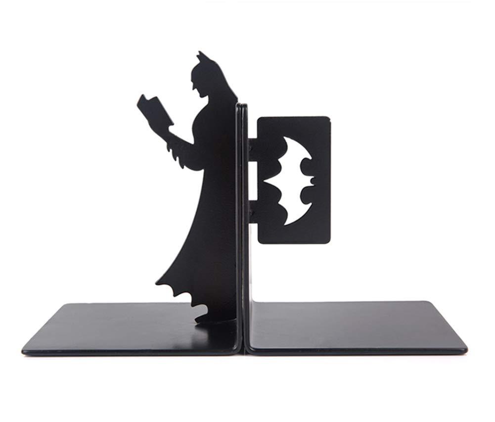 JIAOXM Cr/éatif Batman Presse-Livres,M/étal 100/% Ordinateur de Bureau Presse-Livres,/étudiant Simple Serre-Livre,/étude Artisanat d/écoration,Serre-Livres pour /étag/ères-E