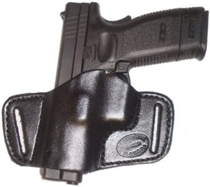Pro Carry Springfield XDS Leather Gun Holster SOB Right Hand Small of Back Black