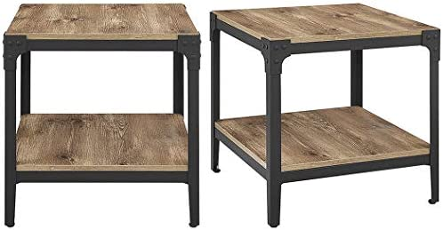 Walker Edison Rustic Wood End Side Table