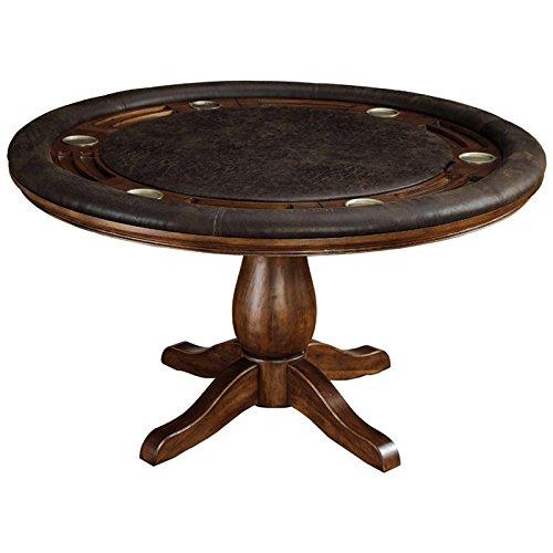 家具のアメリカIzi Fauxレザーポーカーでテーブルブラウン B07FFHT3Z6 B07FFHT3Z6, Double Three 33ダブルスリー:54119e21 --- 2017.goldenesbrett.net
