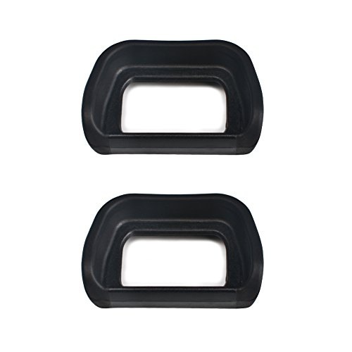 ((2 Pack) VKO Eyepiece / Eyecup / Viewfinder FDA-EP10 Replacement for Sony NEX-6 NEX-7 A6300 ILCE-6300 A6000 ILCE-6000 Digital Cameras & FDA-EV1S Electronic Eyecup(2019 New Version))
