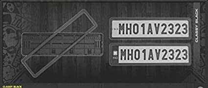 2pcs Car Number ABS Autotrends Plastic Plate Frame Holder Front and Back (Black) & 2pcs Car Number ABS Autotrends Plastic Plate Frame Holder Front and ...