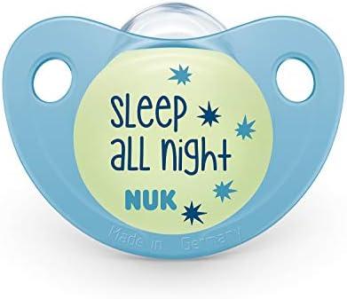NUK 10175239 Trendline Night & Day - Chupete de silicona con ...