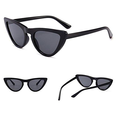 de Cateye C1 lunettes lunettes femmes UV400 petites soleil Eye lunettes Triangle élégant juqilu Vintage Cat qZ4Eq8fw