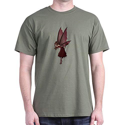 CafePress Love Fairy Dark T Shirt 100% Cotton T-Shirt Military Green