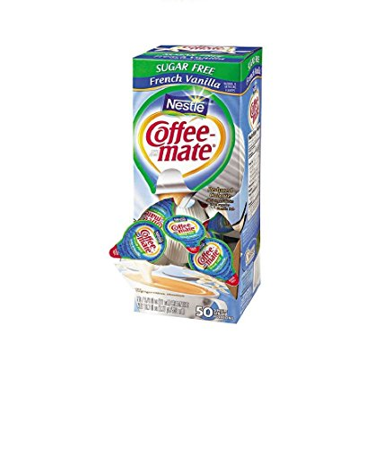 (Nestle Coffee-mate Creamer French Vanilla Sugar Free 3-pack;50 Count Each. )