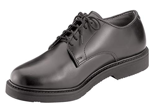 (Rothco Soft Sole Uniform Oxford/Leather Shoe, Black, 7)