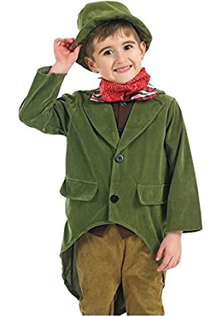 76110d39332 Boys Rich Victorian Charles Dickens Book Day Fancy Dress Costume Outfit  4-12 years (