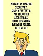 You Are An Amazing Secretary Simply Fantastic All the Other Secretaries Total Disasters Everyone Agree Believe Me: Donald Trump 110-Page Blank Secretary Gag Gift Idea Better Than A Card