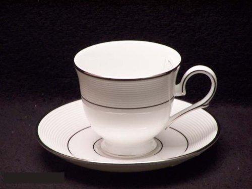 Lenox Opal Innocence Stripe Cups & Saucers