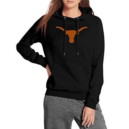 Texas Longhorns Logo Symbol Sign Hooded Sweatshirt Wool Classic Womens