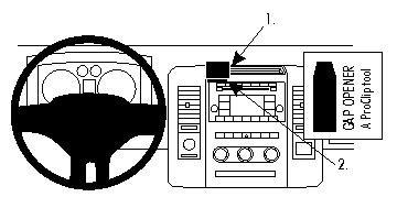 Brodit 854301 ProClip Halterung schwarz