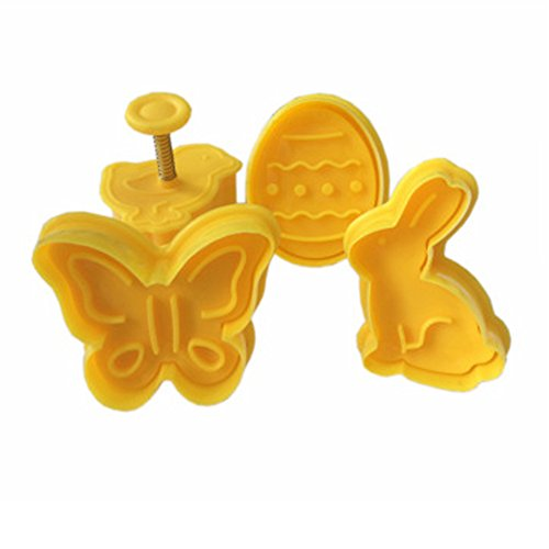 (1 piece Spring press mould cake decoraiton 4pcs/set 2744 Halloween series cake cookie fruit cutters biscuit cake)