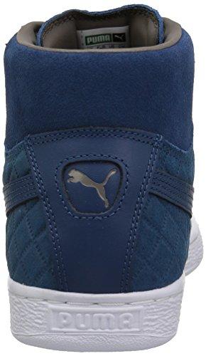 Pumas Mens Suède Marin Classique De Baskets De Couette Bleu Moyen Bleu Marin