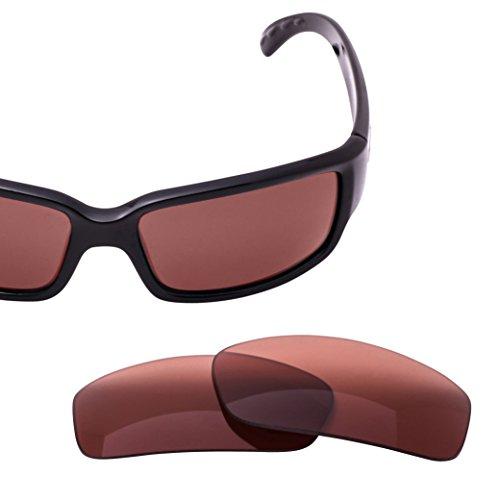 LenzFlip Replacement Lenses for Costa Del Mar CABALLITO Sunglass Frame - Rose Polarized - Glass Caballito