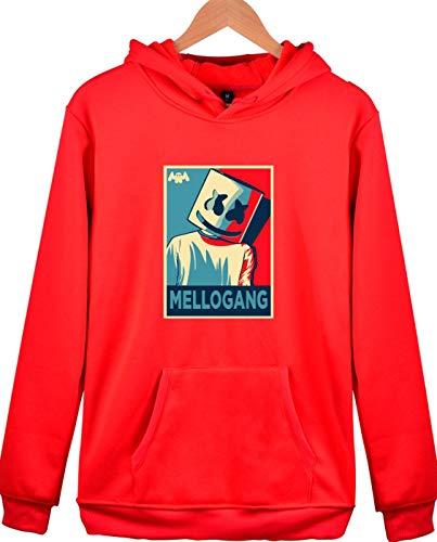 rosso Marshmello Con Hip hop Primavera Elettronica Felpa Unisex Autunno Musica Inverno Cappuccio Seraphy 3412 w4gOW6cc
