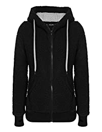 ACEVOG Womens Full Zip Long Sleeve Fleece Hoodie Jackets