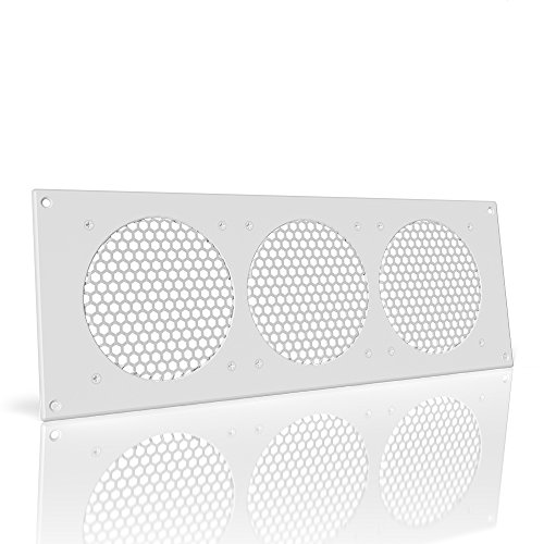 AC Infinity White Ventilation Grille 18'', for PC Computer AV Electronic Cabinets, replacement grille for AIRPLATE S9/T9 by AC Infinity