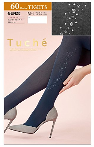団結する効能ハンマーGUNZE Tuche (グンゼ トゥシェ) 日本製 スターシャワー 柄 タイツ 60デニール (レディース 婦人) M-L