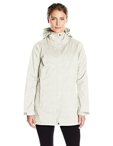 Columbia Women's Splash A Little Rain Jacket, Sea Salt Dotty Dye Print, X-Large