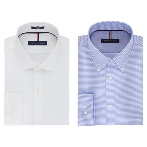 479ba326 Image Unavailable. Image not available for. Color: Tommy Hilfiger Men's Non  Iron Slim Fit Dress Shirt ...